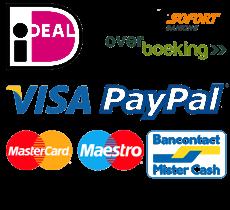 Betalings mogelijkheden, betaal simpel met Ideal en of Paypal