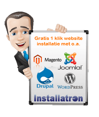 gratis installatron bij shared hosting