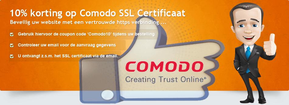 comodo ssl certificaat promotie